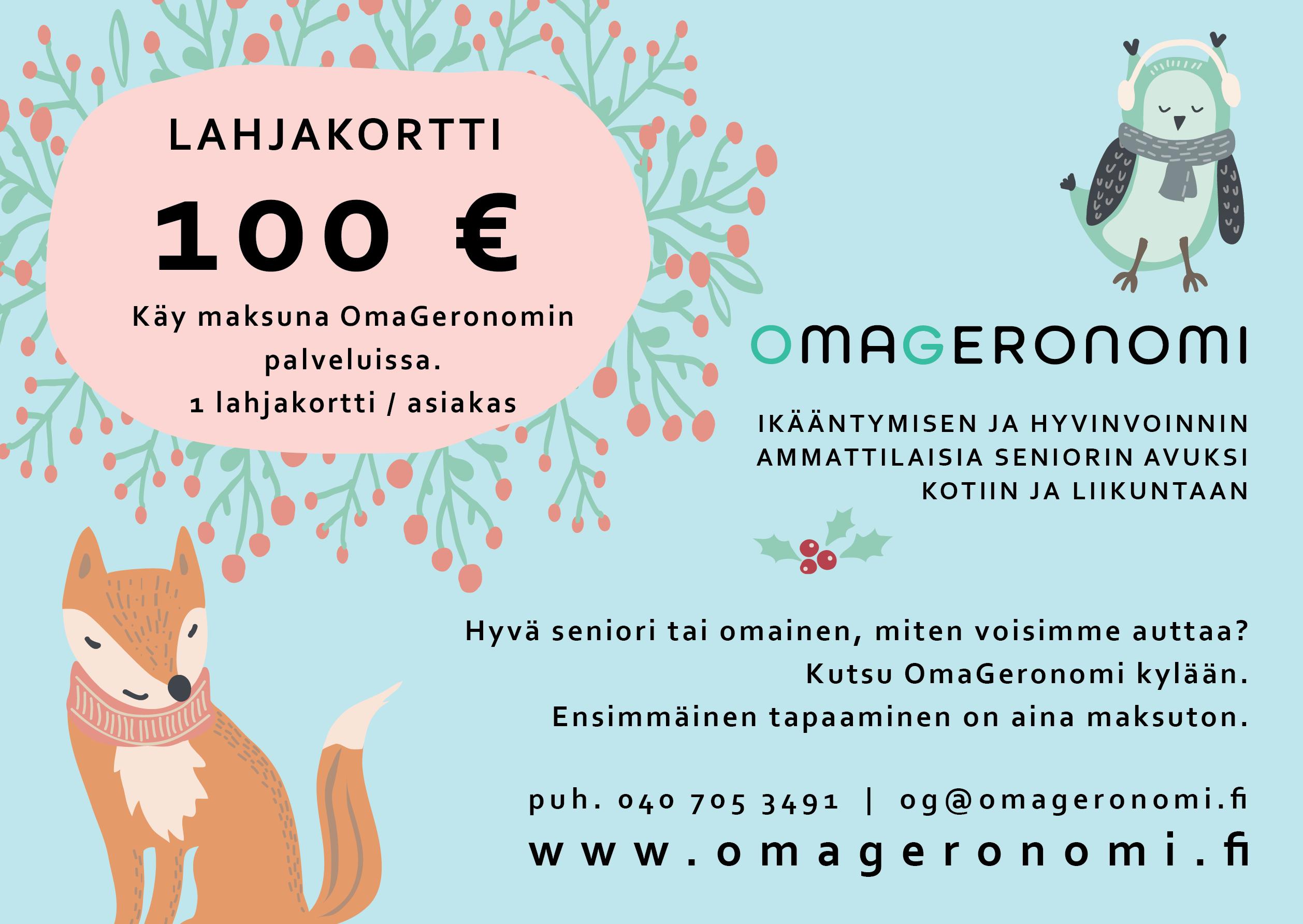 100 eur lahjakortti